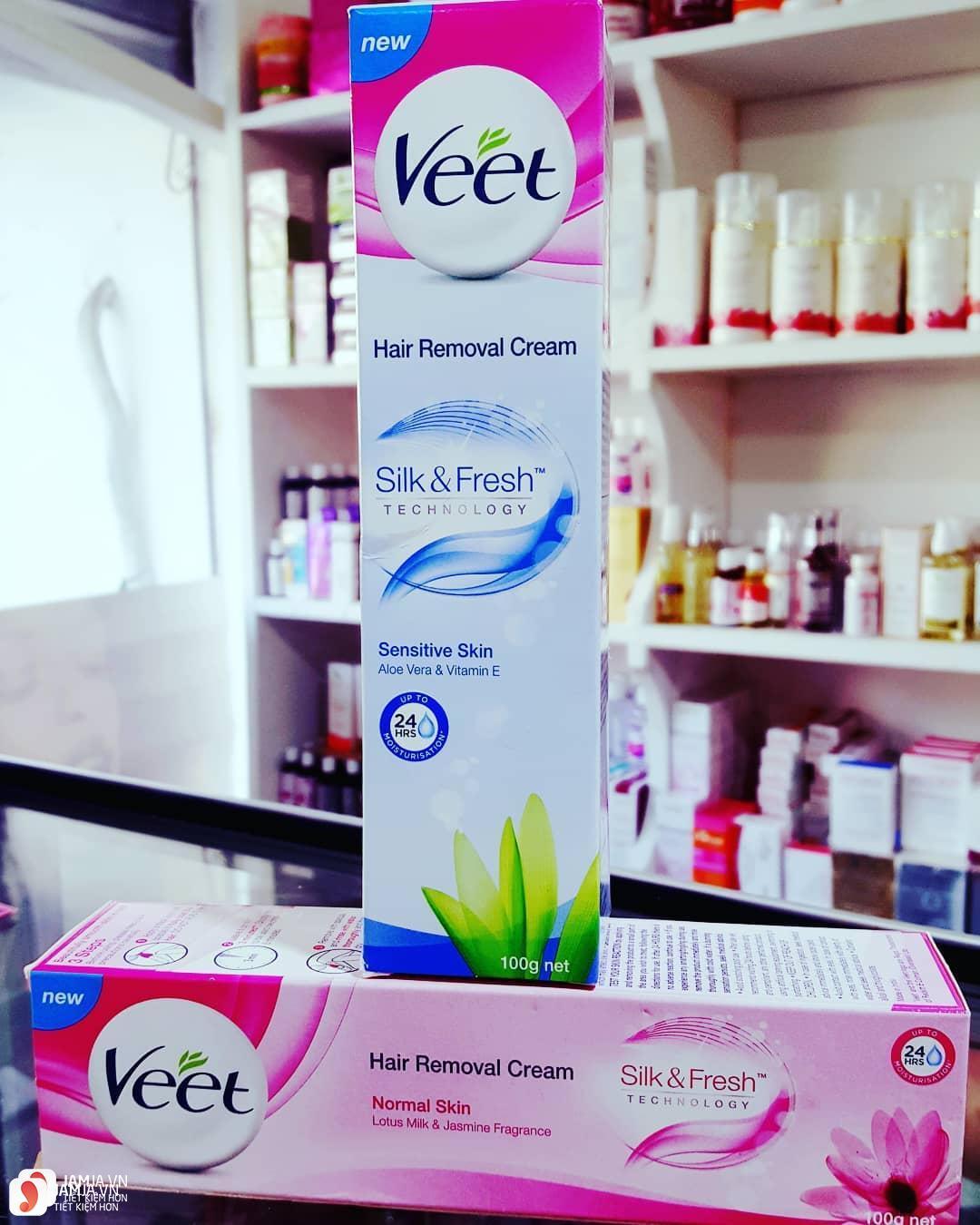 Mua kem tẩy lông Veet Hair Removal Cream Silk & Fresh ở đâu 1