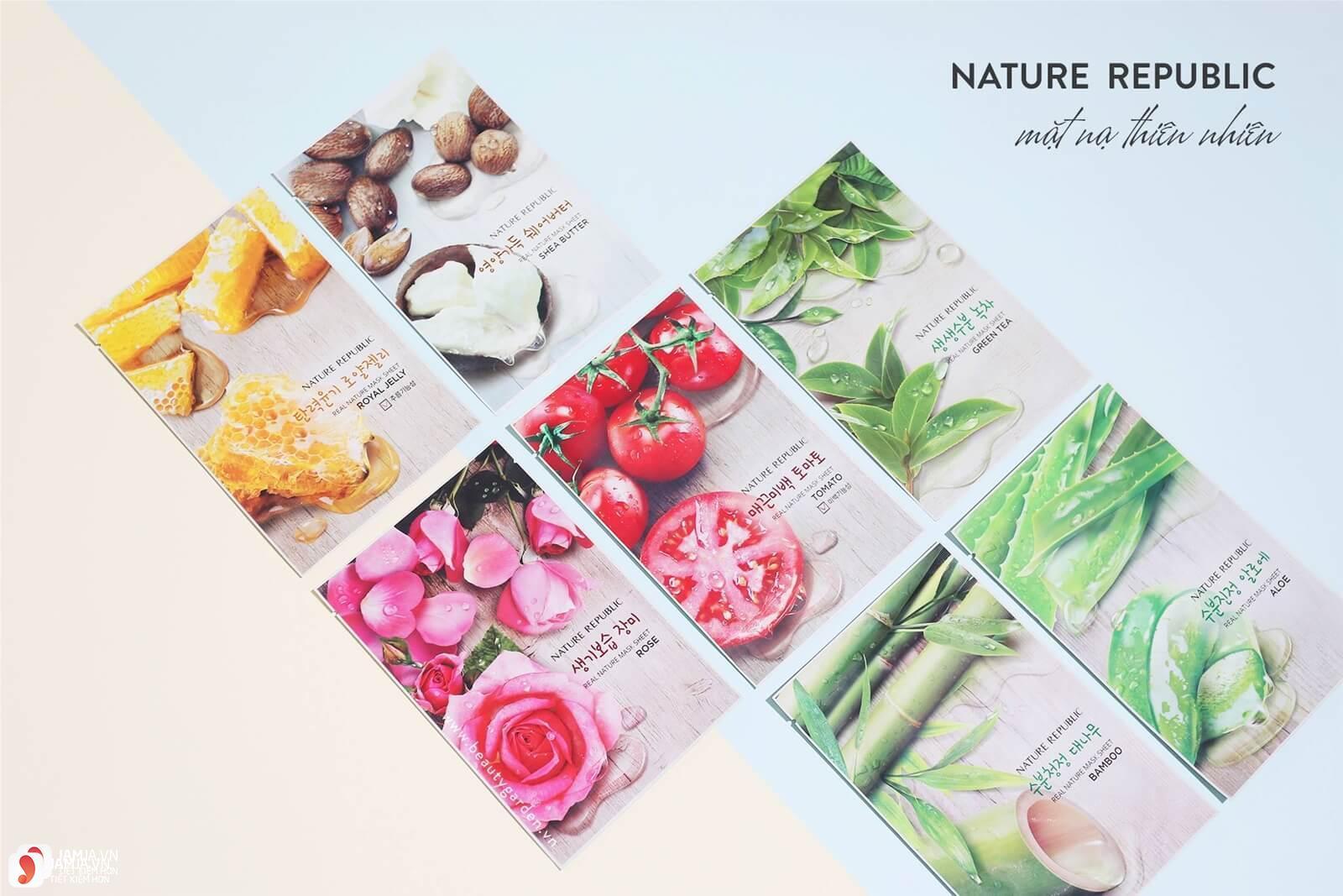 Mặt nạ giấy Nature Republic Real Nature Mask Sheet giá bao nhiêu