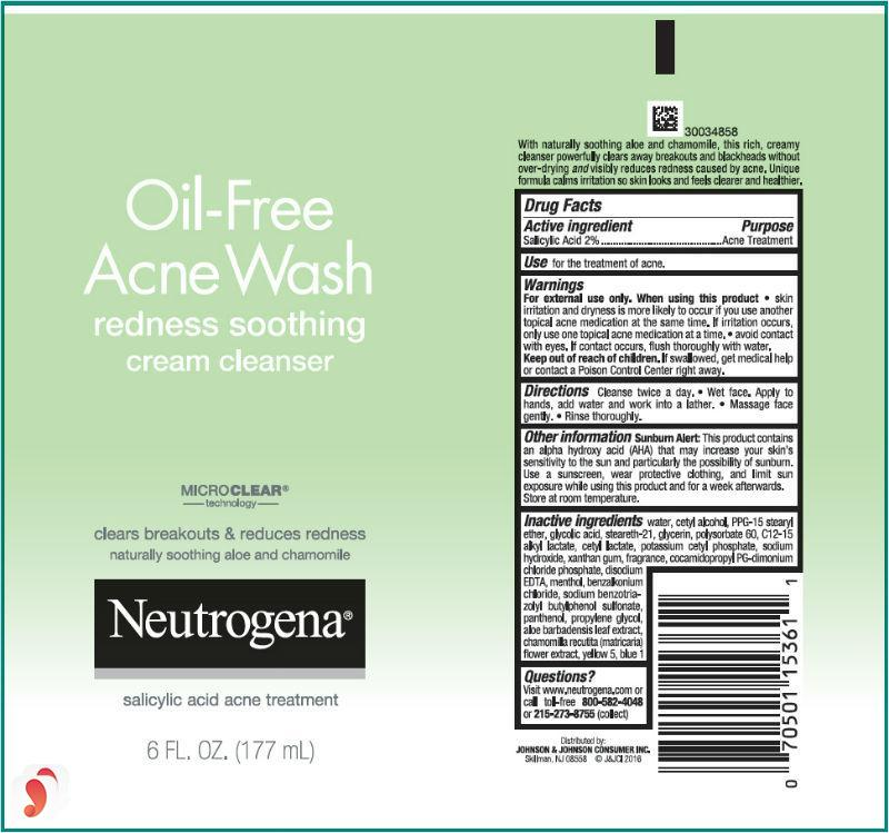 Neutrogena Oil-Free Acne Wash Redness Soothing 2