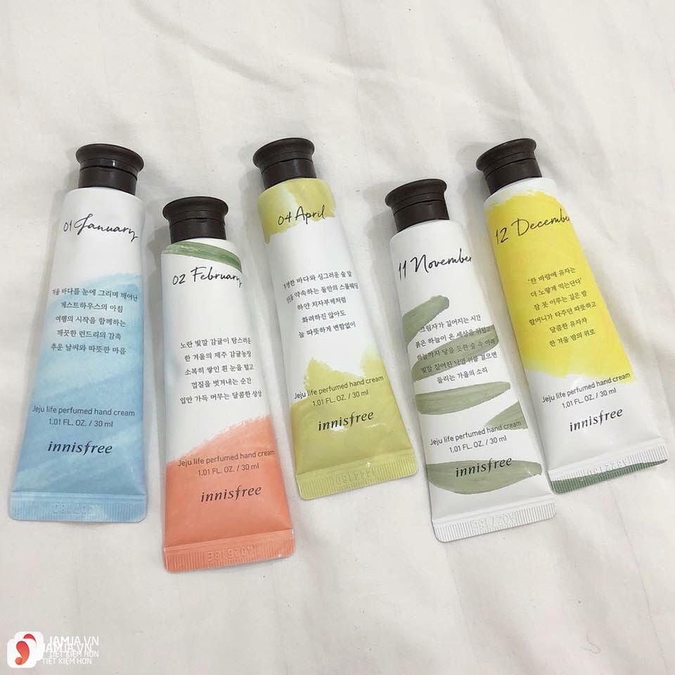 Review chi tiết kem dưỡng da tay Innisfree Jeju Life Perfumed Hand Cream 16