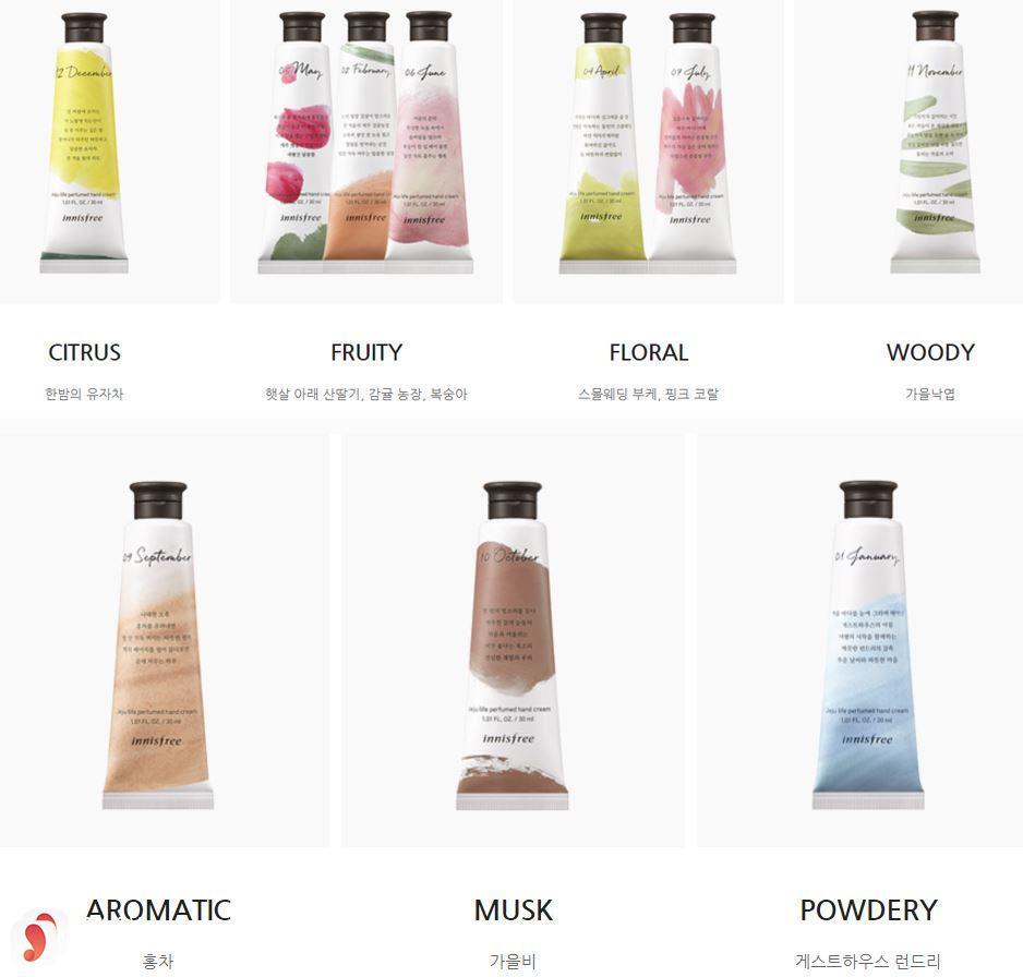 Review chi tiết kem dưỡng da tay Innisfree Jeju Life Perfumed Hand Cream 2