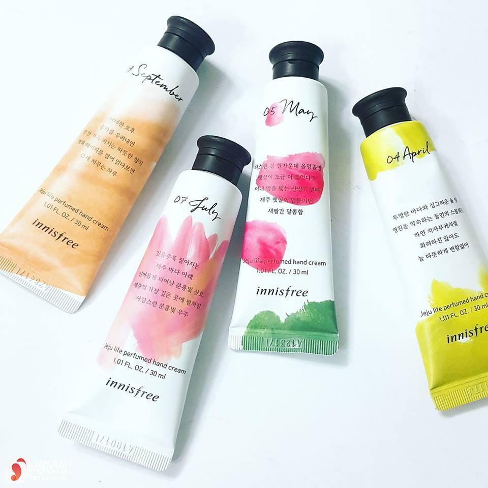 Review chi tiết kem dưỡng da tay Innisfree Jeju Life Perfumed Hand Cream 3