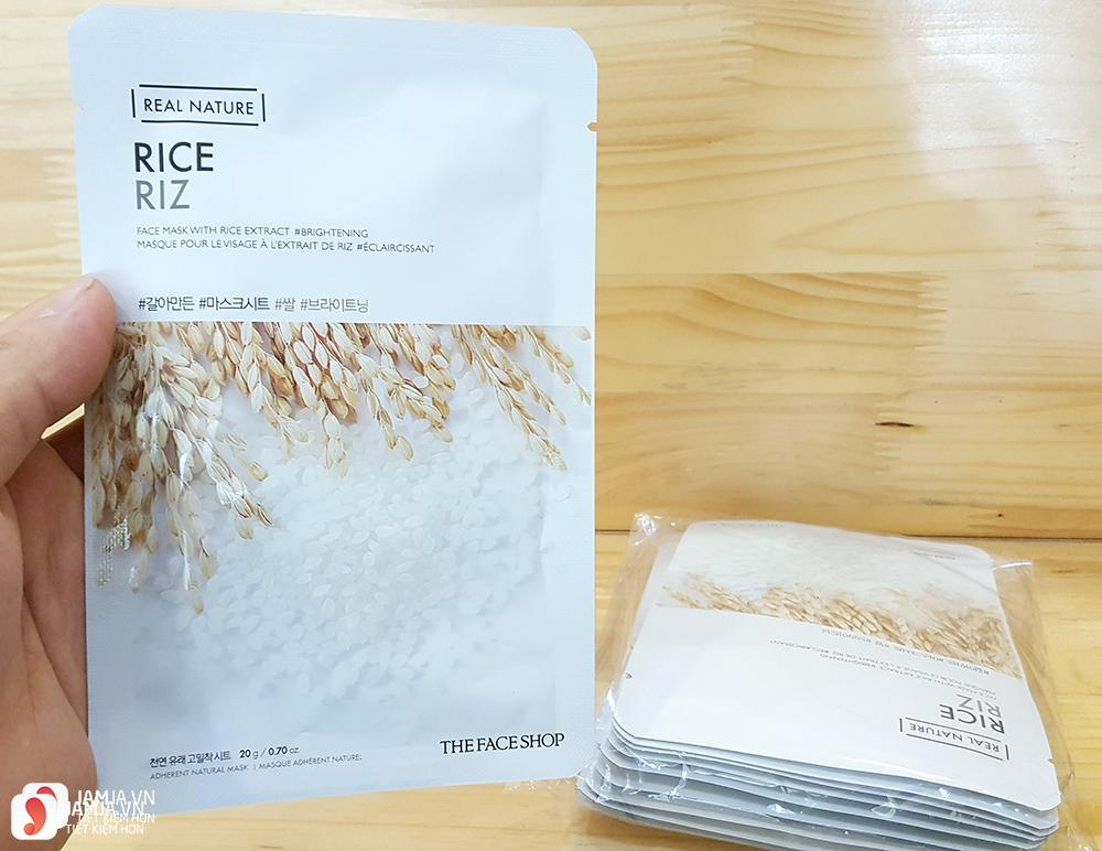 Review mặt nạ The Face Shop Real Nature Rice Riz Mask Sheet 2