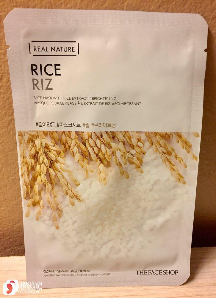 Review mặt nạ The Face Shop Real Nature Rice Riz Mask Sheet 5