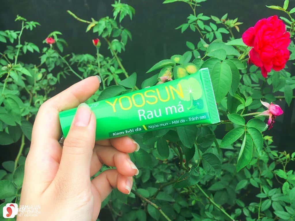 Review về kem trị mụn rau má Yoosun 1