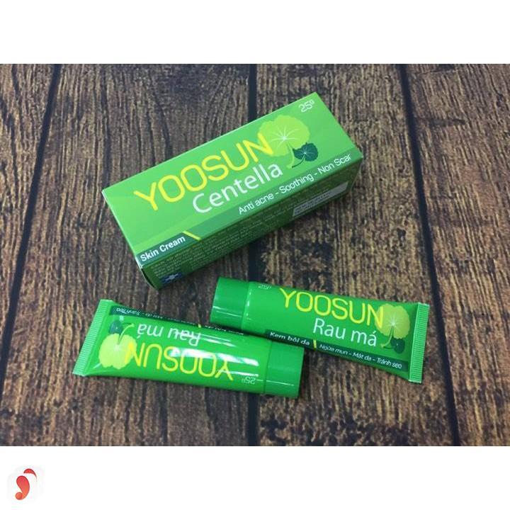 Review về kem trị mụn rau má Yoosun 5