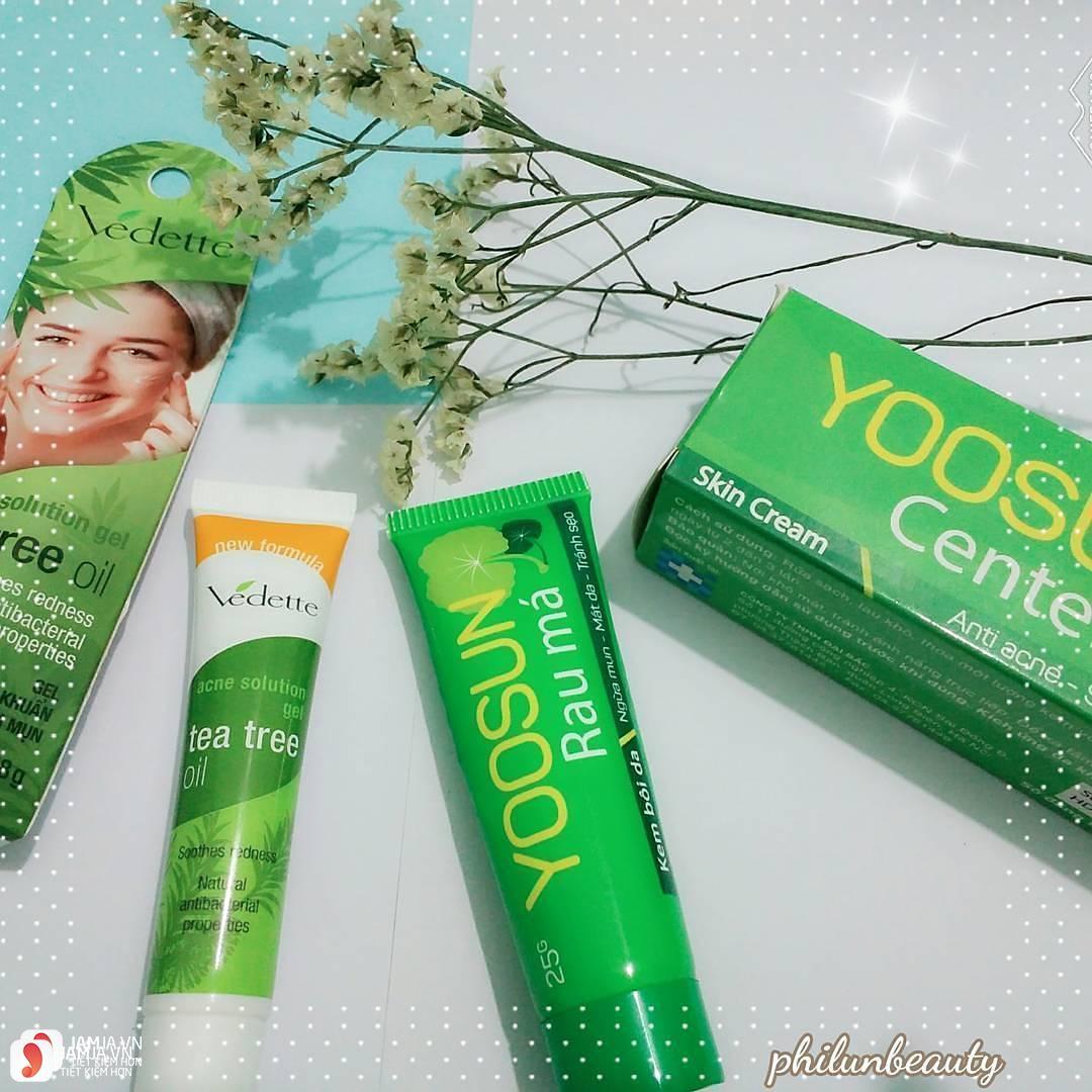 Review về kem trị mụn rau má Yoosun 6