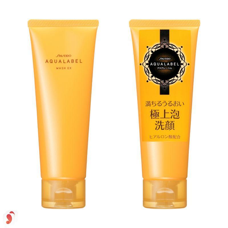 Sữa rửa mặt Shiseido Aqualabel wash EX màu vàng 2