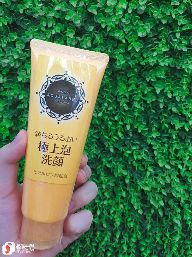 Sữa rửa mặt Shiseido Aqualabel wash EX màu vàng 1