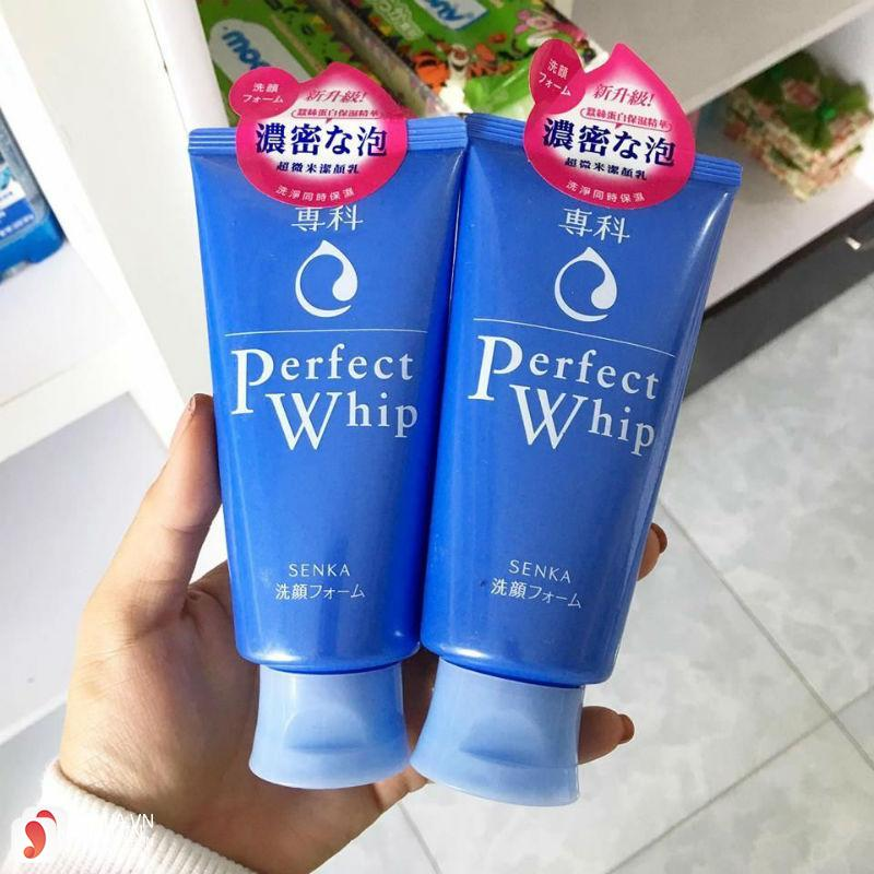 Sữa rửa mặt Shiseido Perfect Whip Senka 4