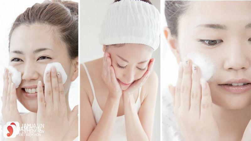 Sữa rửa mặt Shiseido Aqualabel wash EX màu vàng 4