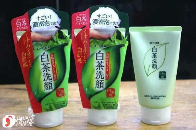 Sữa rửa mặt trà xanh Nhật Rohto Shirochasou Green Tea Foam 6