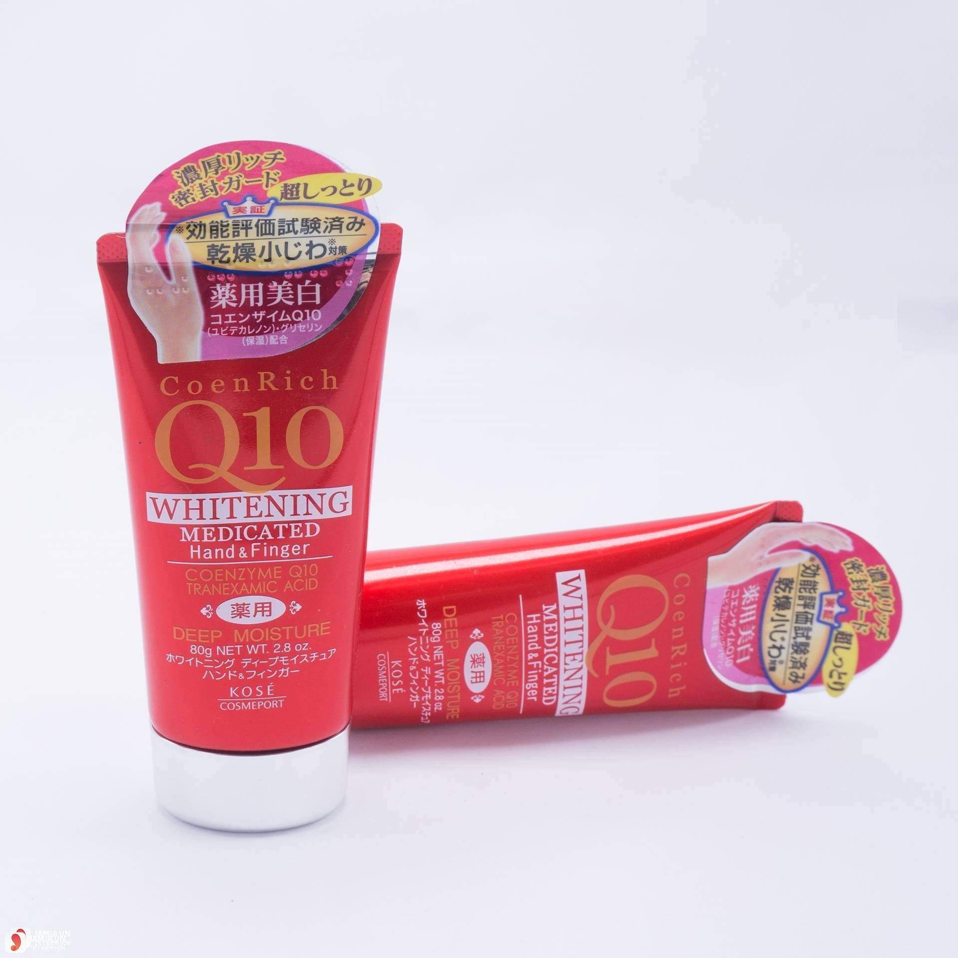 Kem dưỡng da tayKose Q10 Whitening Medicated Hand & Finger mức giá tốt
