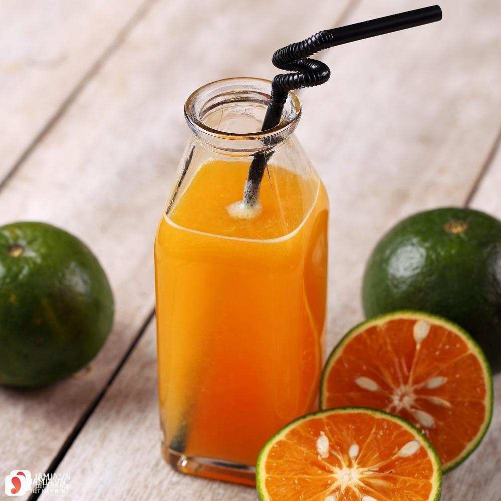 uống nước cam đúng cách