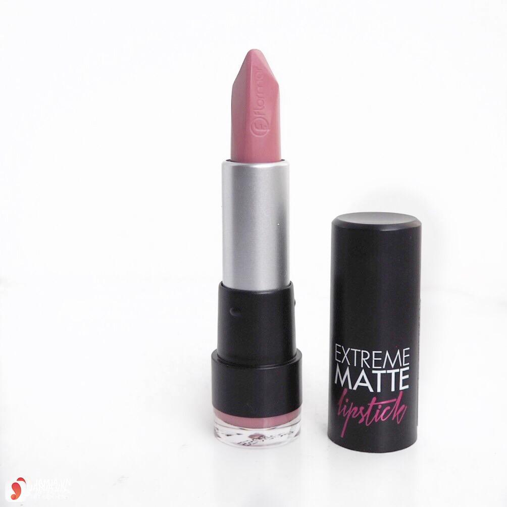 Review dòng son Flormar Extreme Matte Lipstick 2