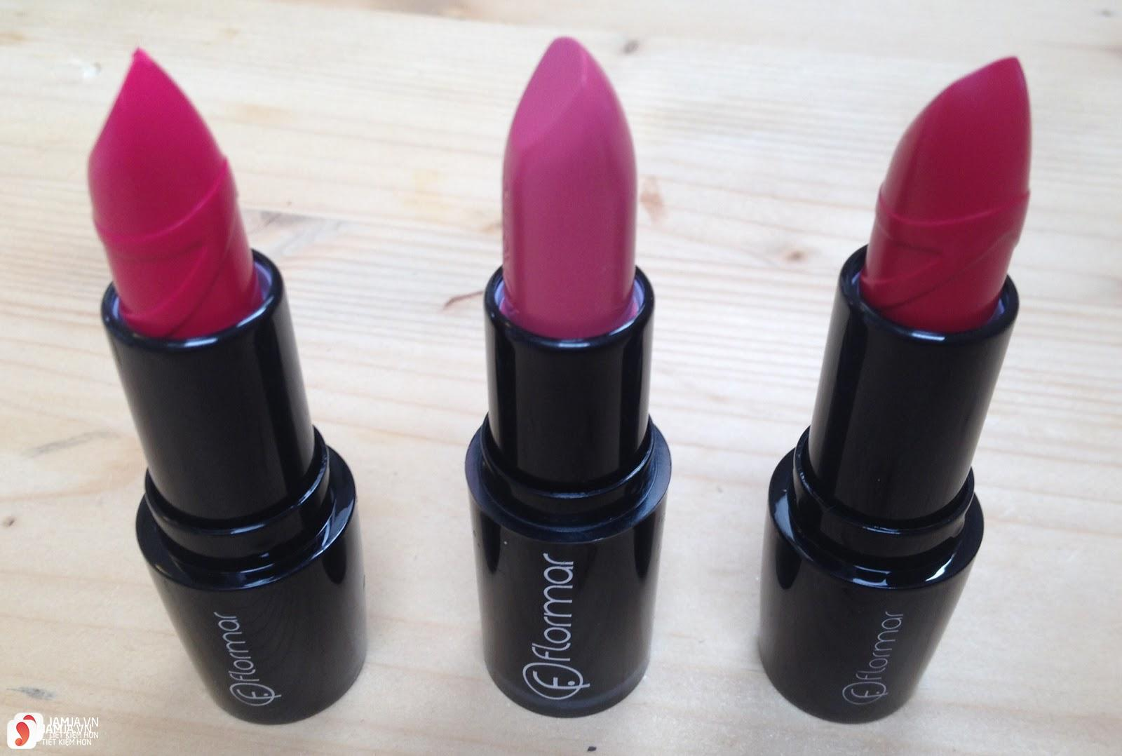 Review dòng son Flormar Long Wearing Lipstick 3