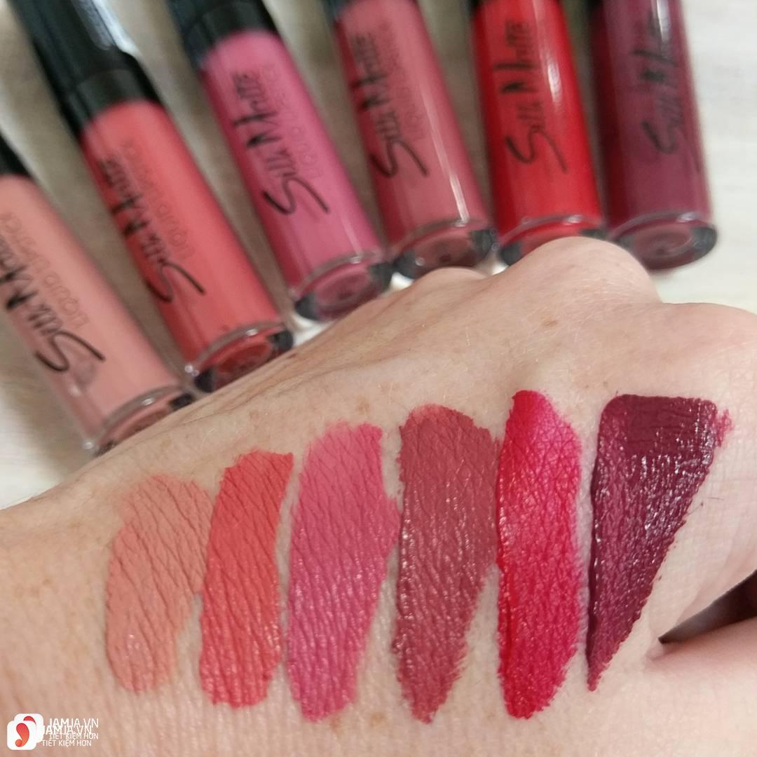 Review dòng son Flormar Silk Matte Liquid Lipstick 1