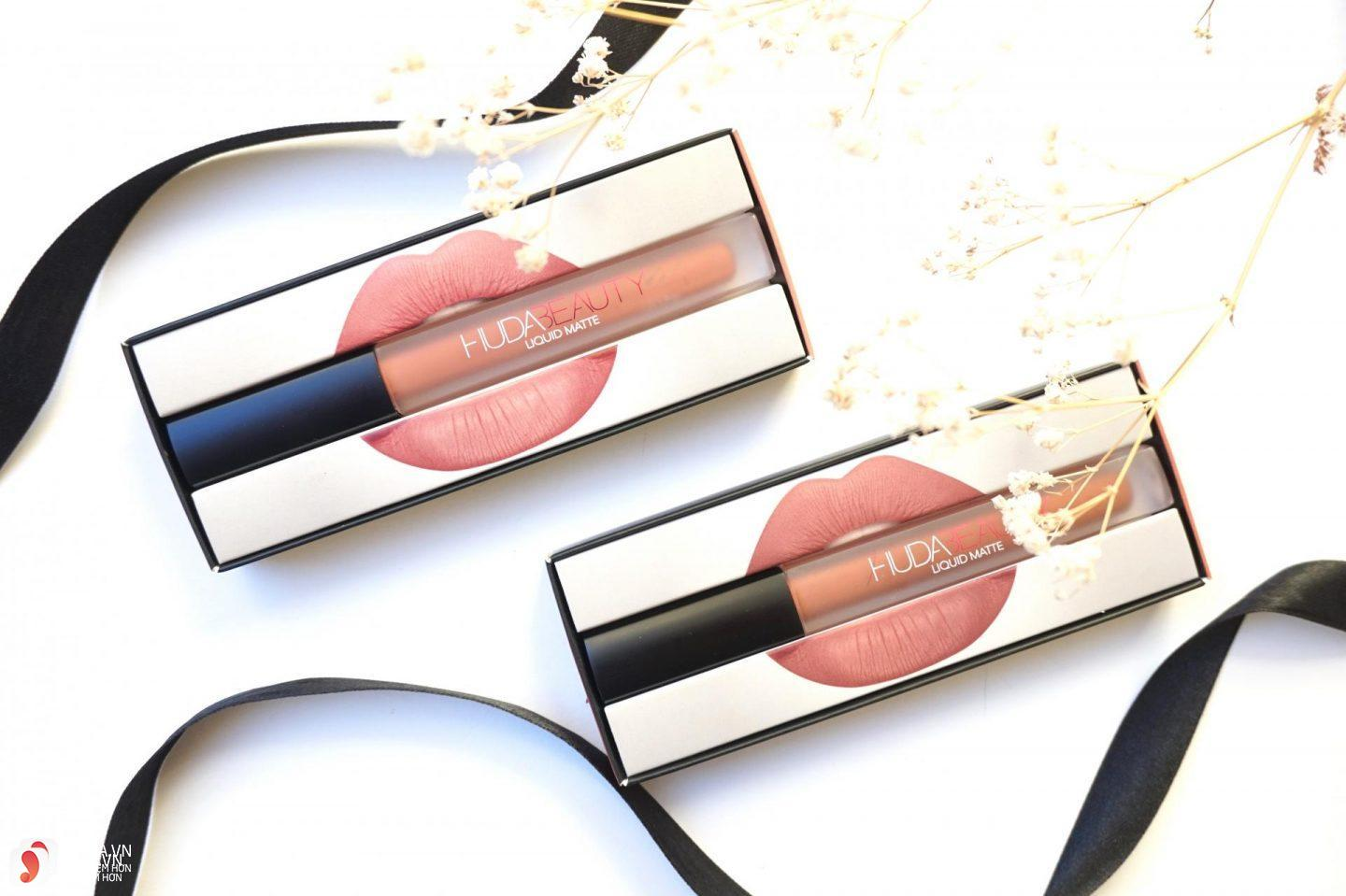 Review dòng son Huda Beauty Liquid Matte Lipstick 12