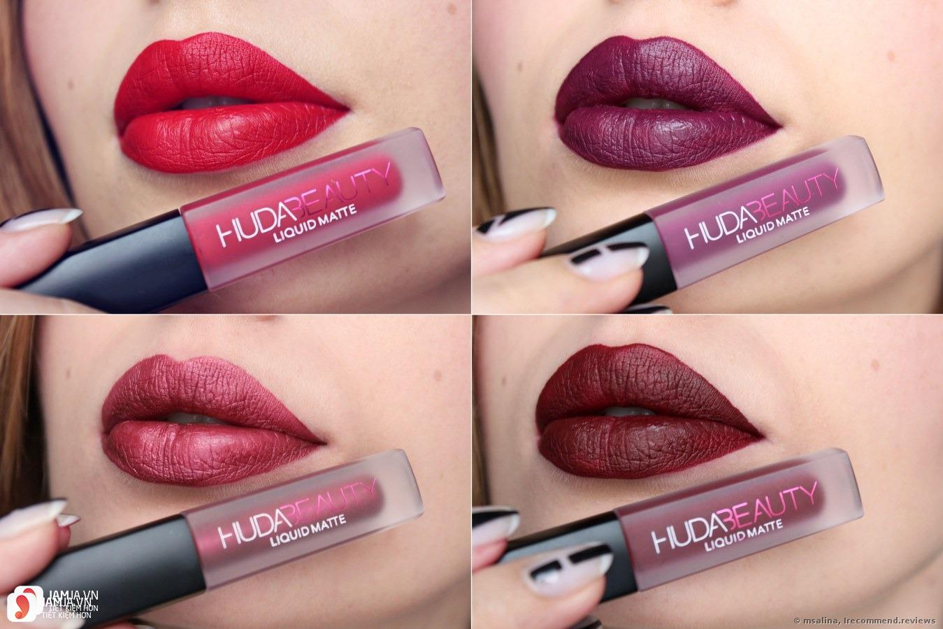 Review dòng son Huda Beauty Liquid Matte Lipstick 4