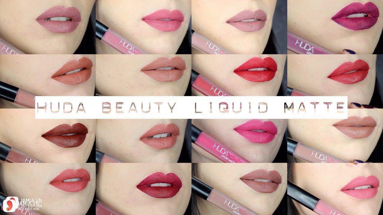 Review dòng son Huda Beauty Liquid Matte Lipstick 6