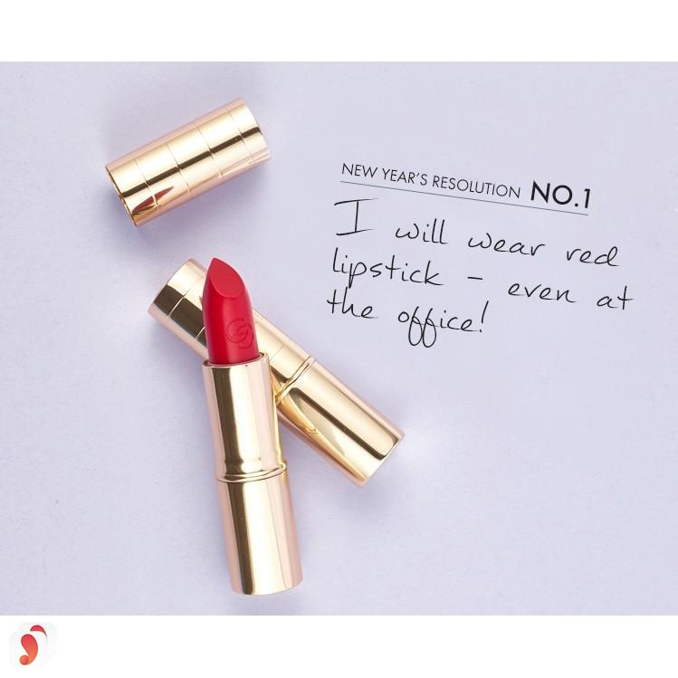 Review son Oriflame Giordani Gold Iconic Lipstick SPF15 10