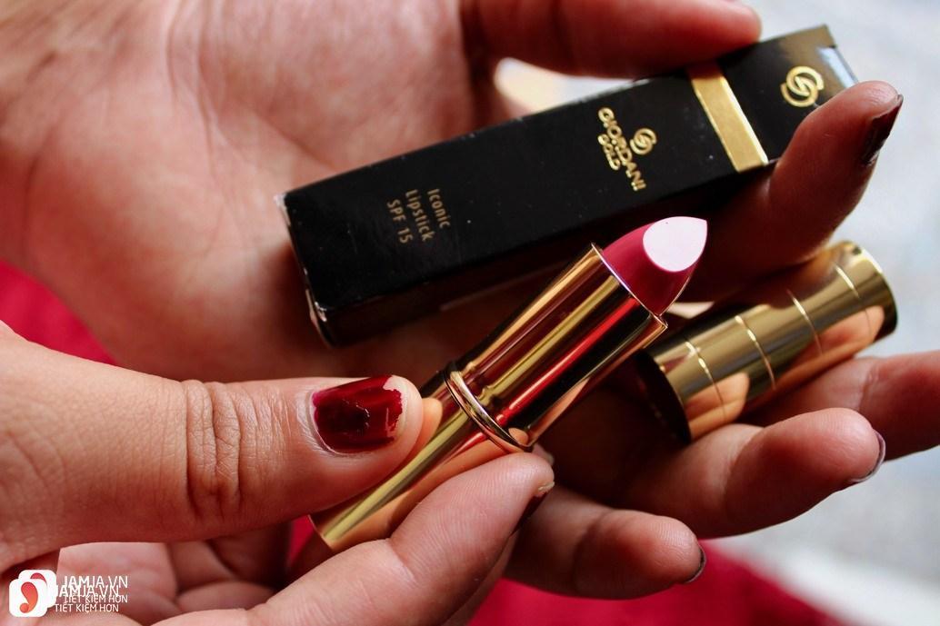 Review son Oriflame Giordani Gold Iconic Lipstick SPF15 3