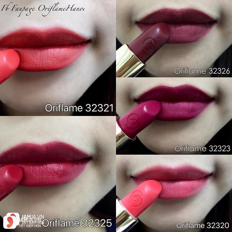 Review sonOriflame Giordani Gold Iconic Matte Lipstick SPF12 4