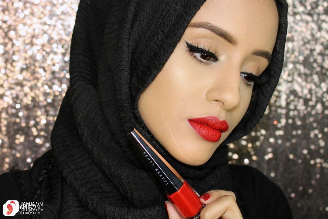 Son Fenty Stunna Lip Paint Longwear Fluid Lipstick review 11