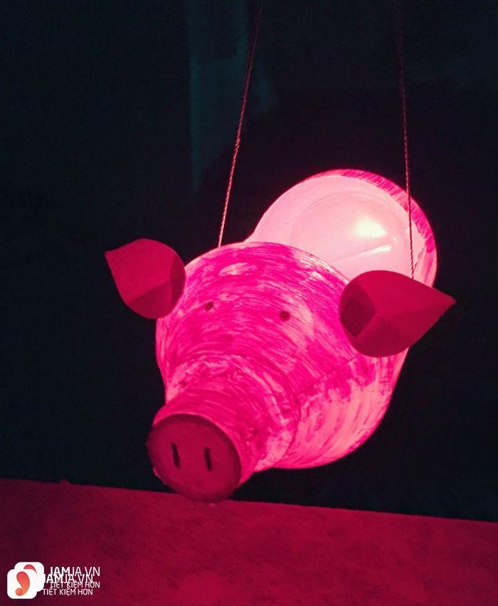 đèn lồng hình heo con 3