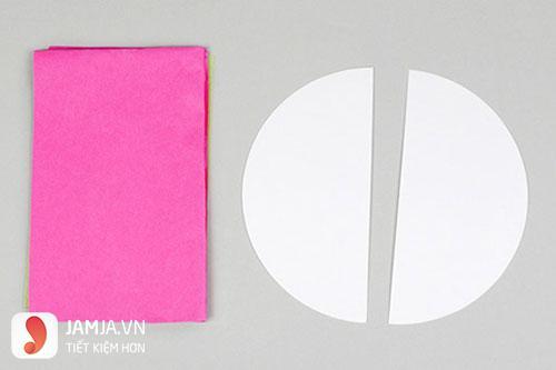 Cách làm lồng đèn tròn bằng giấy - 1