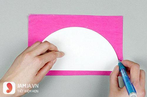 Cách làm lồng đèn tròn bằng giấy - 3