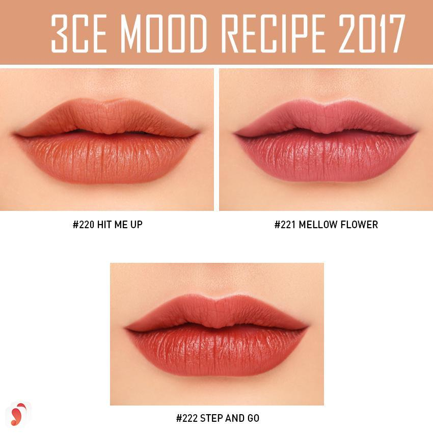 Chất son 3CE Mood Recipe 2017