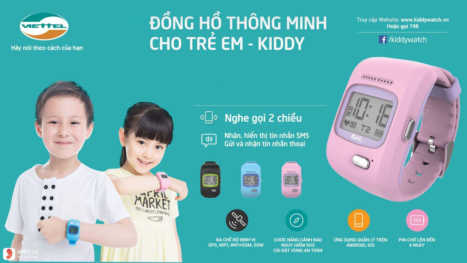 Đồng hồ định vị trẻ em Kiddy Viettel 1
