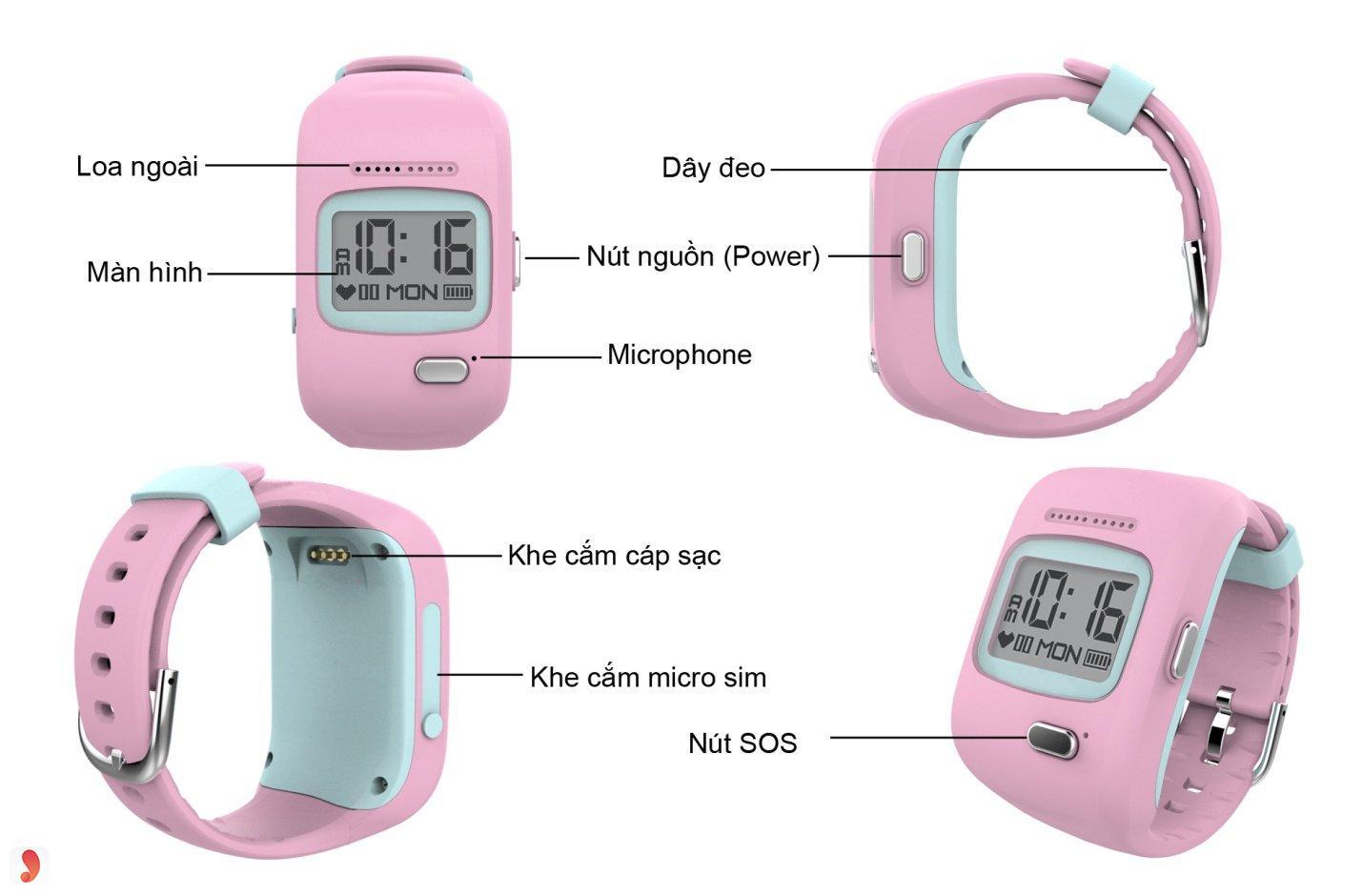 Đồng hồ định vị trẻ em Kiddy Viettel 2