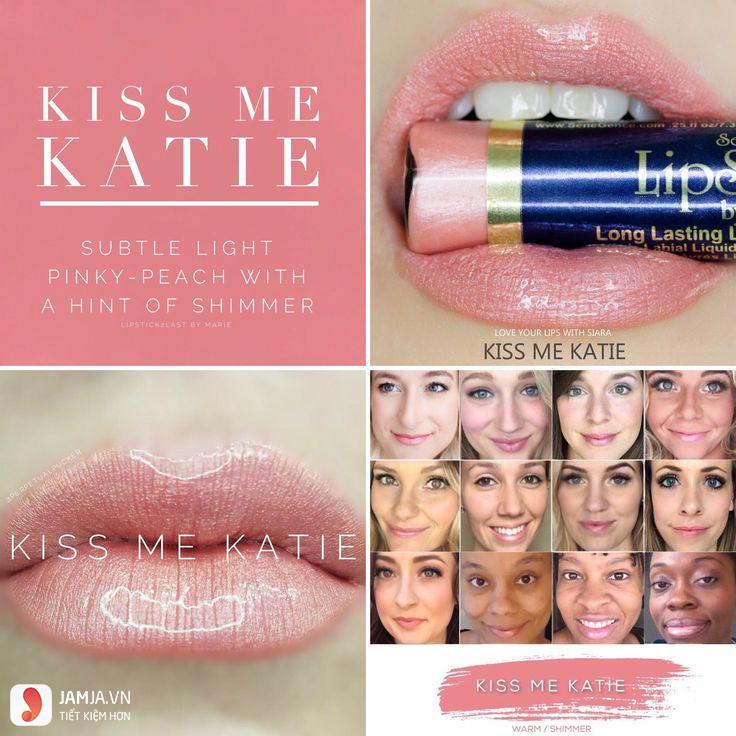 swatch son Lipsense Liquid Lip Color Mattemàu Kiss Me Katie
