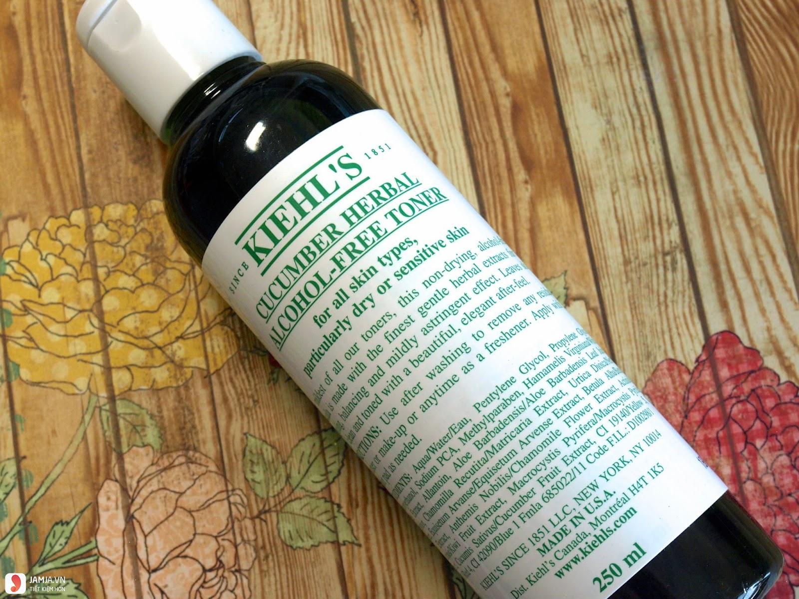 Nước hoa hồng Kiehl's Cucumber Herbal Alcohol- Free 6