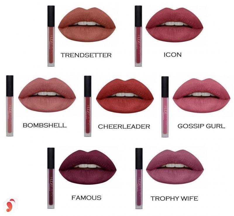 So sánh hai dòng son Huda Beauty Liquid Matte Lipstick với Kylie Lip Kit 6