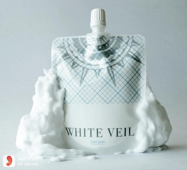 Sữa rửa mặt trắng sáng siêu bọt White Veil