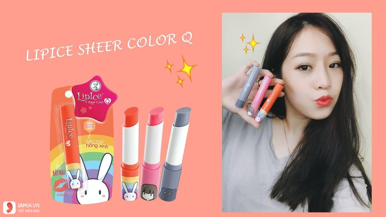 Lip Ice Sheer Color Q Thỏ Bày Màu