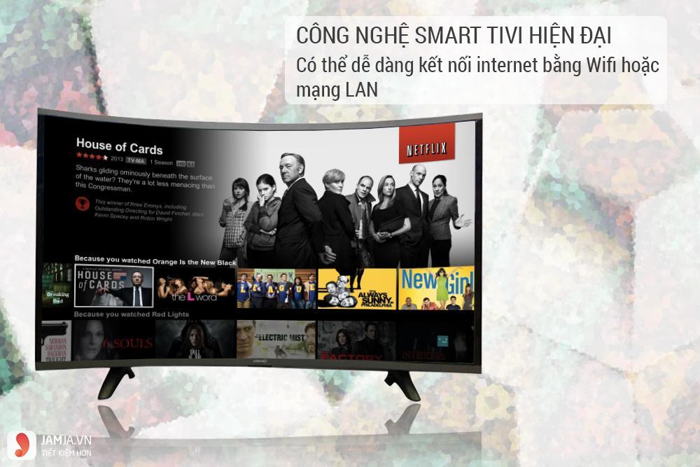Smart Tivi Màn Hình Cong Asanzo 32 inch AS32CS6000