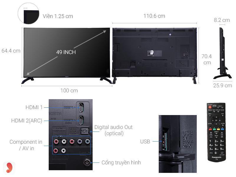 Tivi LED Full HD Panasonic TH- 49E410V 2