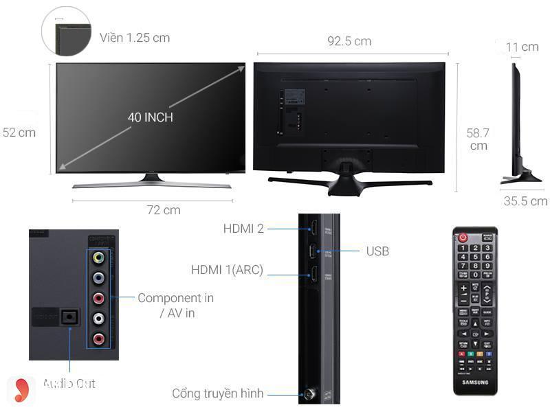 Tivi LED Full HD Samsung UA40M5000 3