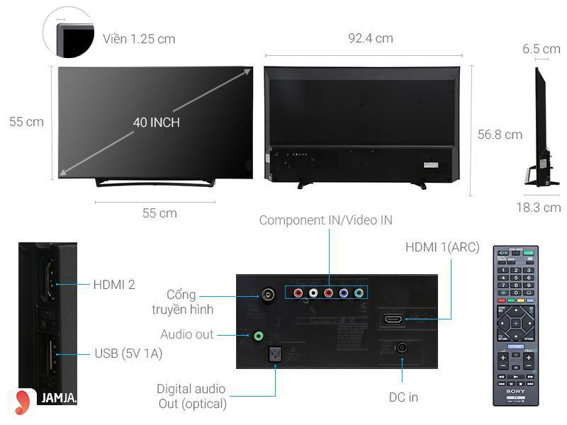 Tivi LED Full HD Sony KDL- 40R350E 3