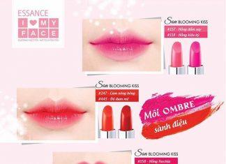 Bảng màu son Essance Blooming Kiss 3