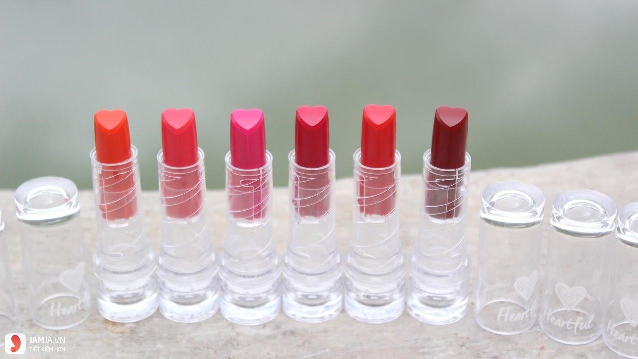 Bảng màu sonHolika Holika Heart Cream Lipstick 1