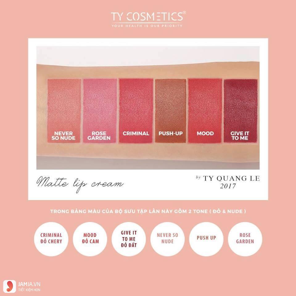 Bảng màu sonTy Cosmetics Matte Lip Cream 1