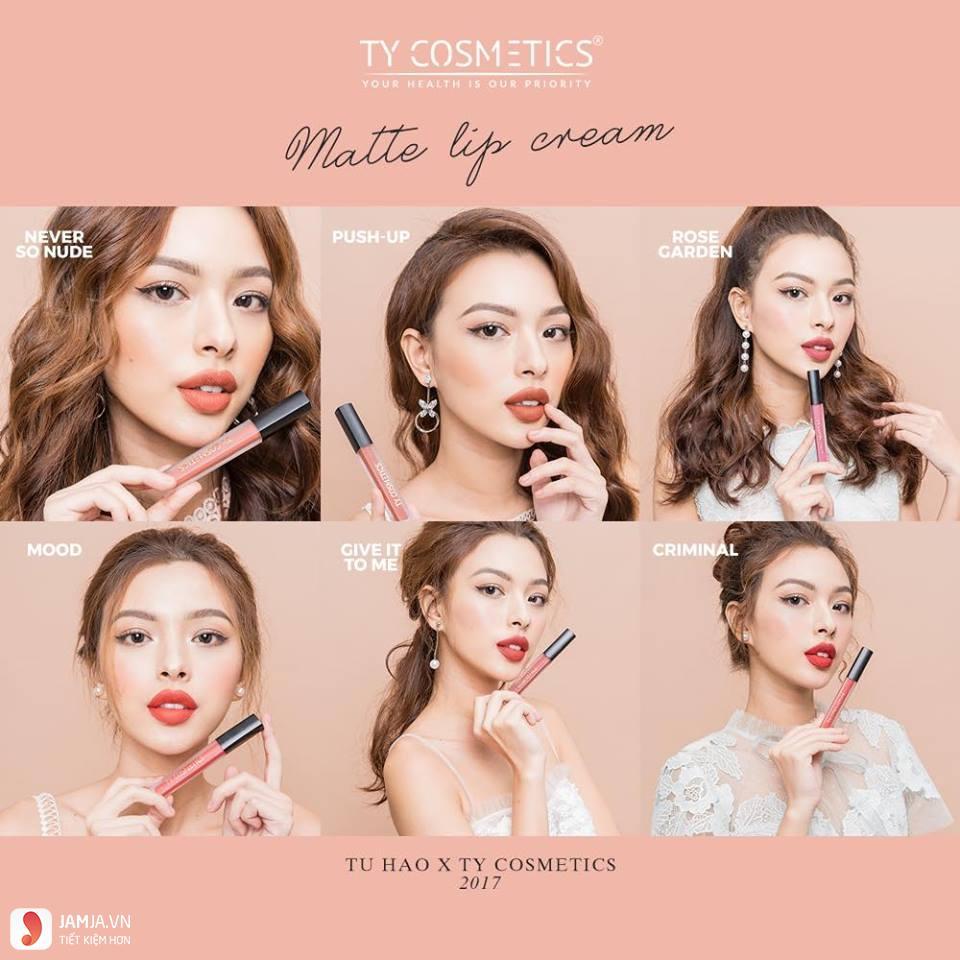 Bảng màu sonTy Cosmetics Matte Lip Cream 2