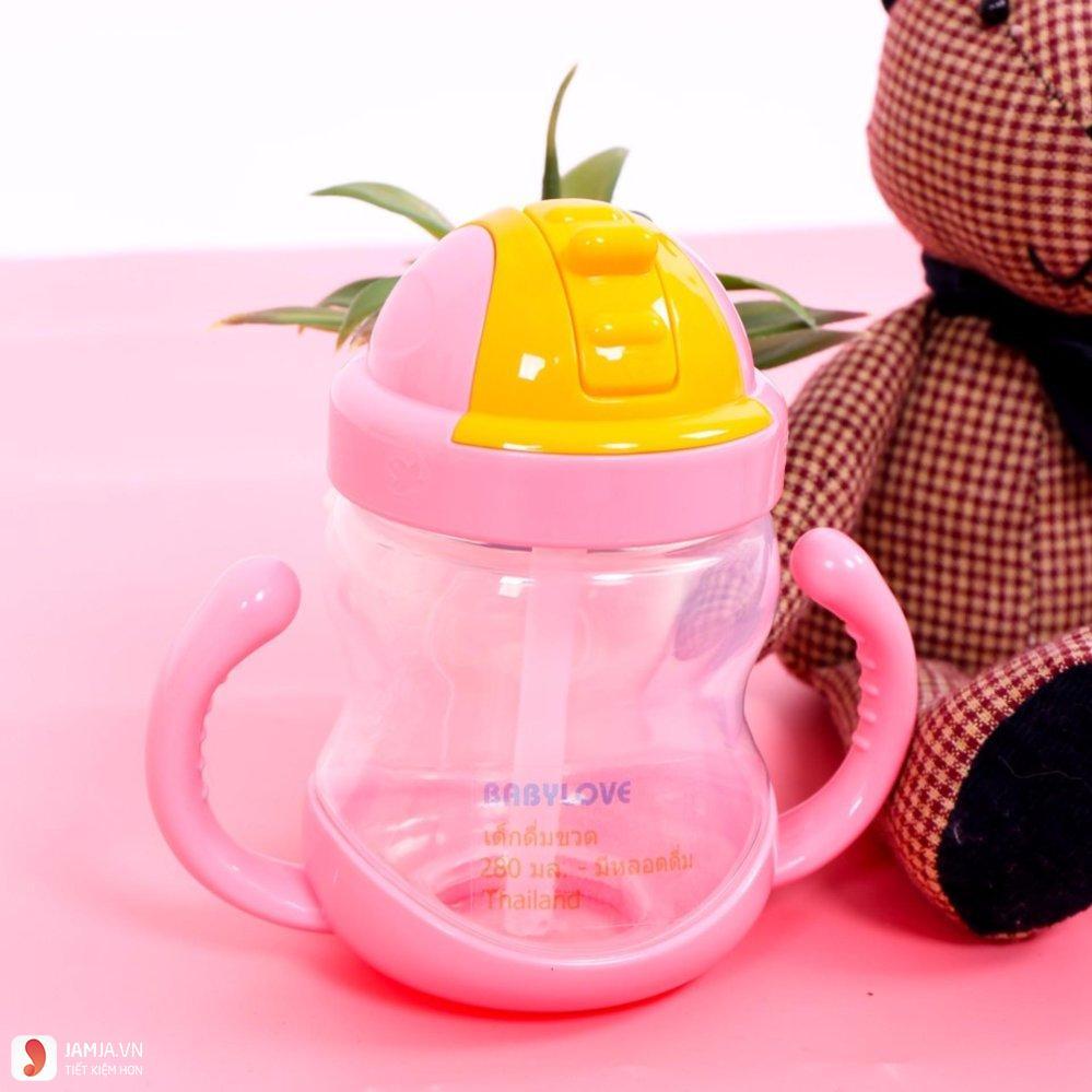 Bình uống nước cho bé vòi silicon