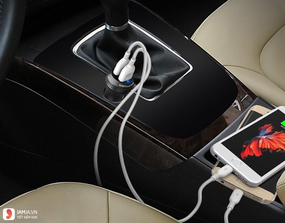công nghệ sạc điện thoại trên ô tô