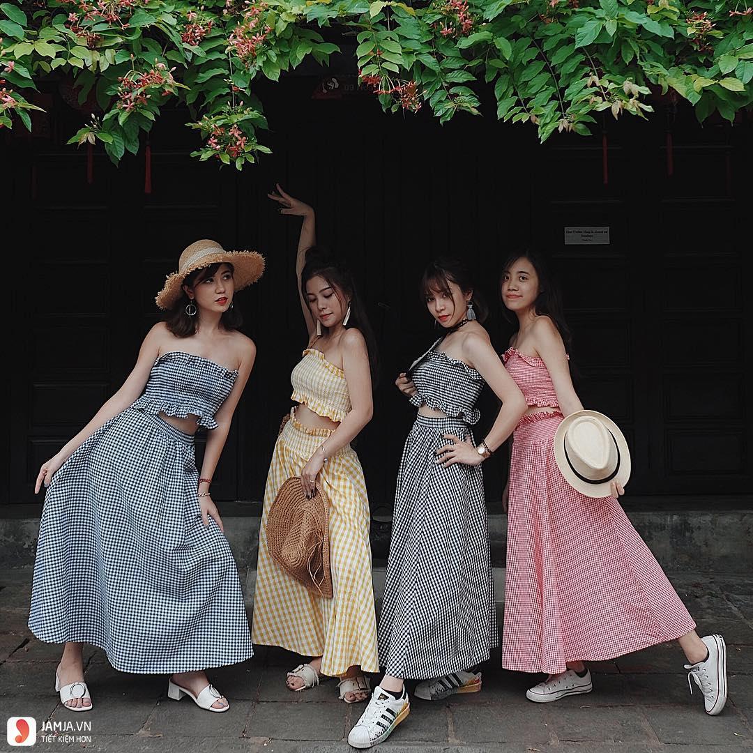 Đầm caro 1